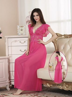 Lace Long Fancy Nightwear Dress for Women